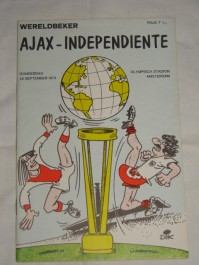 Programa Ajax x Independiente 28/09/1972 Intercontinental