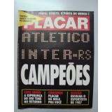 Revista Placar Nº 908 26/10/1987 Poster Atletico MG Inter RS